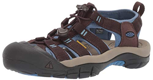 KEEN Women's Newport H2 Water Shoe, Mulch/Quiet Harbor, 8