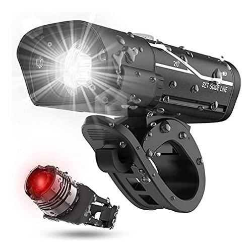 URUNI Faro de Bicicleta T6 L2 LED Bike Frontal Frente Luz Trasera Conjunto de la batería Recargable USB Linterna de la luz de la Cola Impermeable Nuevo