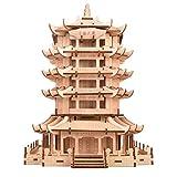 YWAWJ Rompecabezas de madera de estilo tradicional chino estéreo 3D Arquitectura Manual...