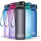 Smitave Sport-Wasserflasche, 1 Liter, motivierende Wasserflasche