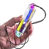 Hängende Kronleuchter Kristalle Prismen Kristall Sonnenfänger AB-Farben Hexagone Hängende Kronleuchter Prisma Anhänger Wohnkultur DIY Handwerk (120mm)