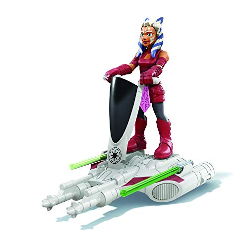 Star Wars Mission Fleet Gear Class Ahsoka Tano Aquatic Attack Figura y vehículo de 2.5 Pulgadas, Juguetes para niños a Partir de 4 años