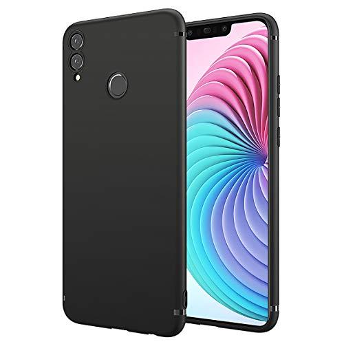 BENNALD Hülle für Honor 8X Hülle, Soft Silikon Schutzhülle Case Cover - Premium TPU Tasche Handyhülle für Huawei Honor 8X (Schwarz,Black)