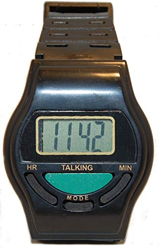 sprechende Uhr Armbanduhr Blindenuhr 92974 schwarz