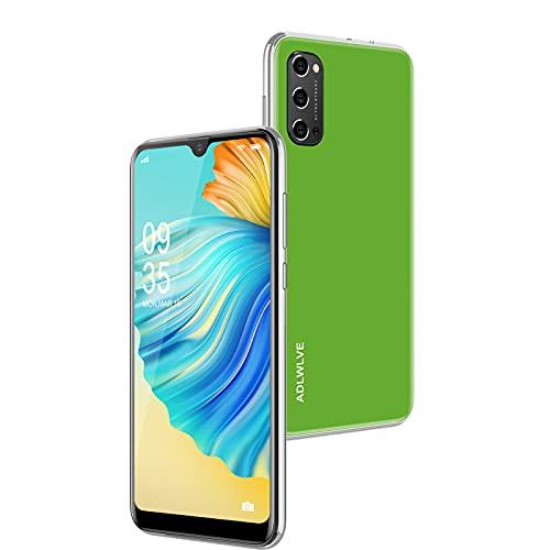 Teléfono Móvil Libres 4G, Android 9.0 Smartphone Libre, 6.3' Smartphone Barato 3GB RAM, 32GB / 64GB ROM, Dual SIM, 5MP+8MP, 4600mAh, Quad Core Smartphone Libre Face ID Movil Barato (Verde)