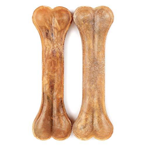 MAOJIE - Osso da Masticare per Cani, in Pelle Bovina e Pelle Bovina, 15,2 cm (2 Pezzi/Sacchetto)