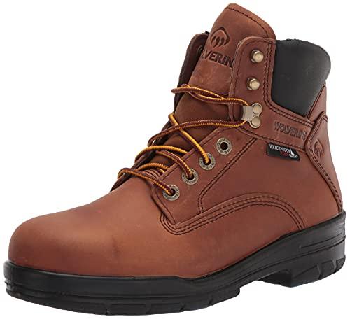 Wolverine Men's DuraShocks SR 6' ST WP Construction Boot, Copper, 9.5