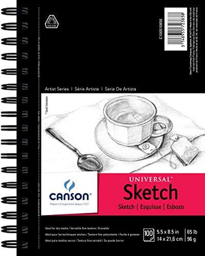 Pro-Art Canson Artist Series Universal – Bloc de Dibujo, 0, 0, 5.5'X8.5', 1