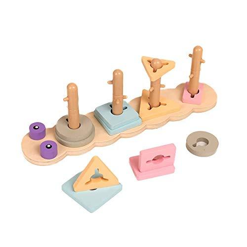 SYXX Kinder Lernspielzeug, Hippo Sets, Ausbildung der Kinder Hand-Auge-Koordination Denken Logik, Geometrische Form Bausteine Lernspielzeug