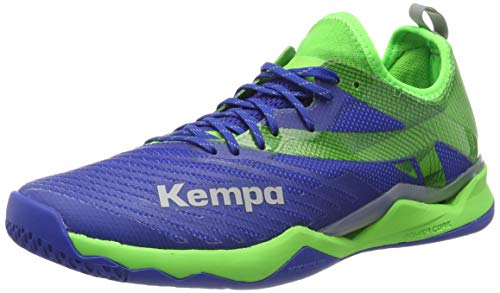 Kempa WING LITE 2.0, Herren Handballschuhe, Blau (Azur/Vert Printemps 01), 39½ EU (6.5 UK)