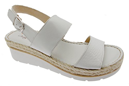 Riposella - Sandalias de Vestir para Mujer Blanco Bianco