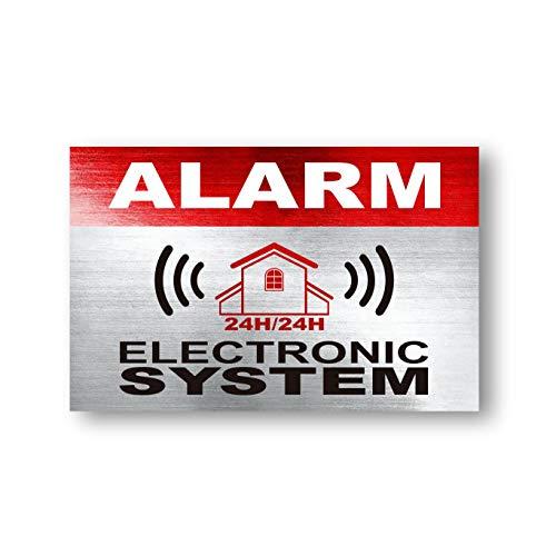 imaggge.com 12 x Security Alarm waarschuwingsbord Stickers - Alarm - Elektronisch systeem - voor intern en extern gebruik - Bescherming voor thuis, auto. - Weerbestendig - Grootte: 3,4 x 2,2 in
