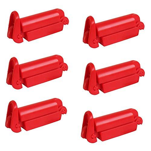YUIP 6 Piezas de Clip Antideslizante Rojo Clip de Cinturón de Seguridad de Automóvil Rojo Adecuado Para la Mayoría de Cinturones de Seguridad de Asiento de Automóvil (Rojo)