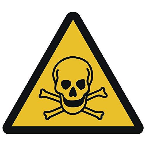 Warnung vor giftigen Stoffen Kunststoffschild Ø 10 cm (wetterfest)