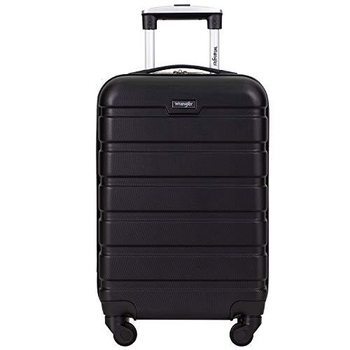 Wrangler 20' Hardside Spinner Carry On Luggage, Black