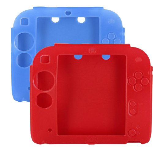 Lilyy Protective Soft Silicone Rubber Gel Skin Case Cover for Nintendo 2DS