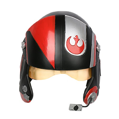 Poe Casque Costume Cosplay Adulte Hommes Halloween Deluxe Pilote Tête Résine X-wing Helmet Fancy Dress Marchandise