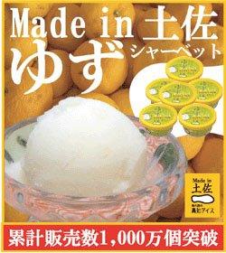 ゆずシャーベット6個セット/高知アイス/柚子/ユズ/おいしいんだもの/Made in土佐/ニッポンストア高知