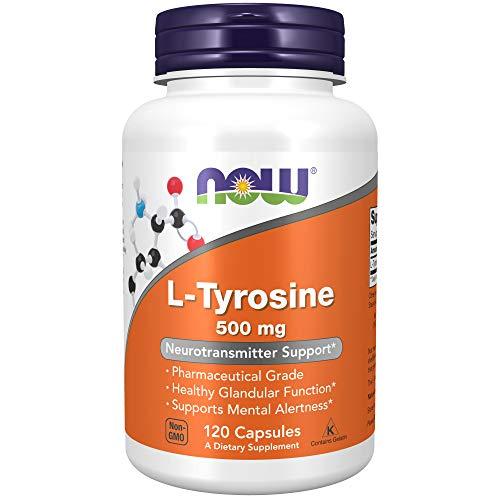 Now Foods, L-Tyrosin, 500 mg, 120 Kapseln, sojafrei, glutenfrei
