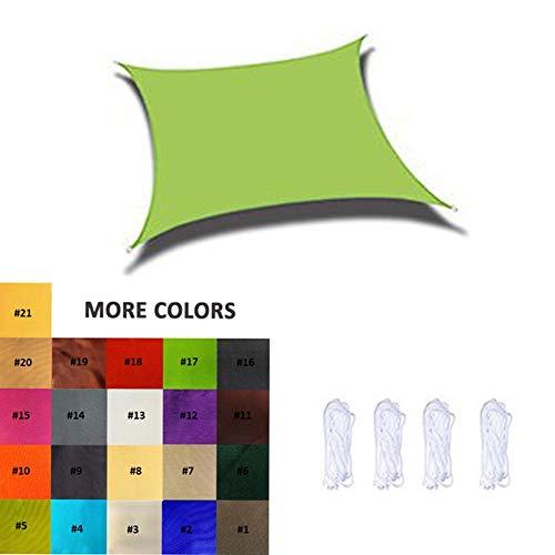 Nevy - Wasserabweisend Sonnensegel Sonnenschutz, Windschutz Mit UV Schutz, Atmungsaktiv Schattenspender, Polyester, 160g/m², 10 Farben (Color : #17, Size : 2.5X3M)