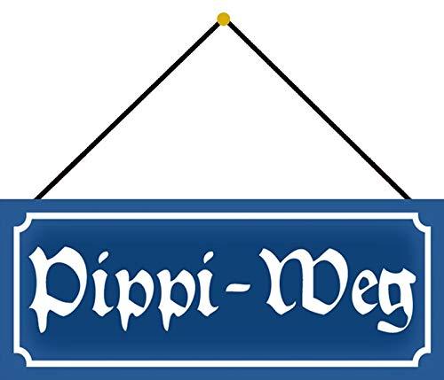 Generisch Nostalgie PIPI - Placa metálica decorativa con cordel (10 x 27 cm)