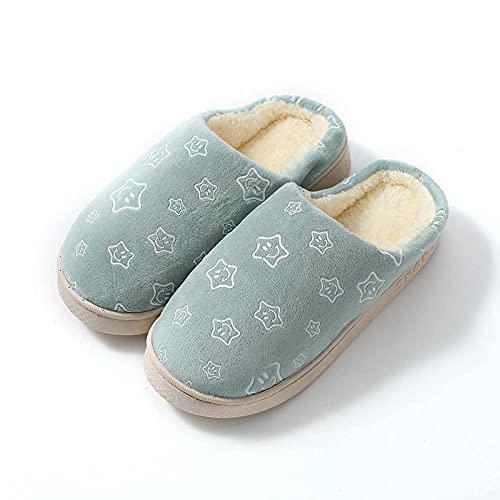 direction Zapatos de Piscina,Inicio otoño e Invierno Zapatillas de algodón para Mujer Zapatos de Luna Suave para Parejas Masculinas 21_44-45#,Cómodo