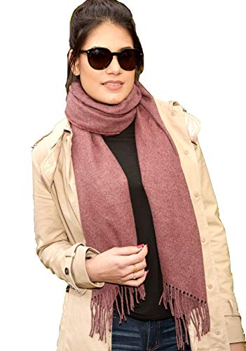 CORA Cashmere Scarf Shawl for Women Winter Wrap Stole Extra Large Blanket Scarf Bufanda de cachemir lana invierno wool (Mauve Purple) 11