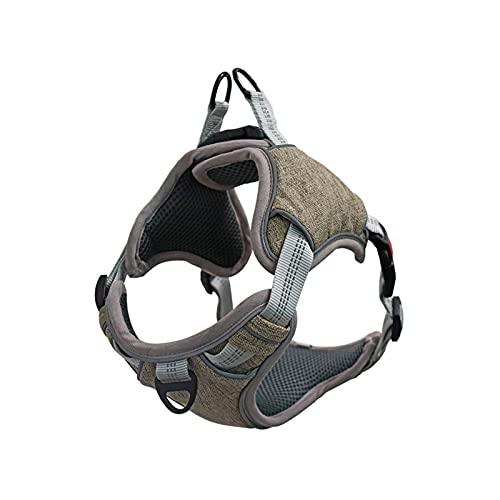 Harnais anti traction pour chien Coffre à collier lumineux lumineux réfléchissant S-XL for petits moyens moyens Gilet de harnais de chien avec accessoires for chien de corde Harnais pour chien moyen