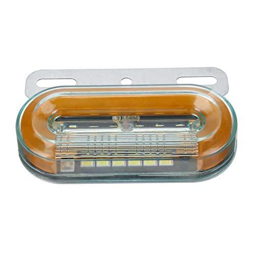 YNLRY 10 Unids 12V 12 LED Light Light Light Light Light DE LUZ Externa DE LA SEÑAL LÁMPULAS DE Las LUCHES Advertencia LUZ DE LA Tapa 3 Modos Trailer Trailer TRATE Lorry
