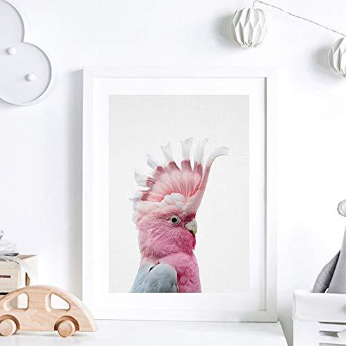 MLSWW Leinwand dekorative Malerei Leinwand Malerei Drucke Tier Papagei Wohnkultur Wandkunst Bild Aquarell Für Wohnzimmer Modulare Poster-60x80cm