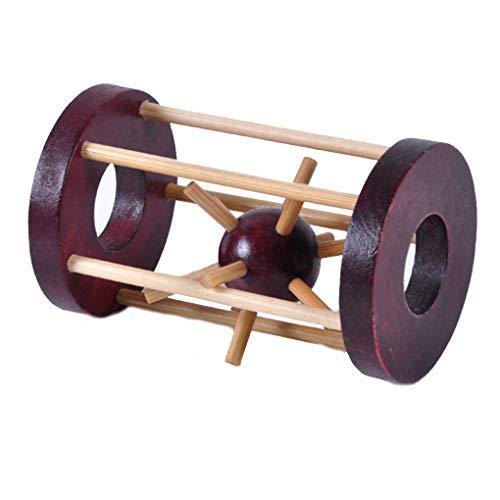 Houten slot logica puzzel braam puzzels speelgoed Brain lock logica teaser intellectueel verwijderen montage speelgoed verjaardagscadeau