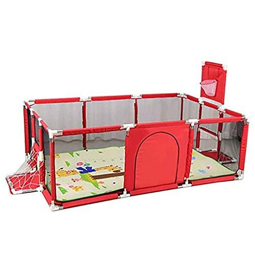 Clôture de jeu Parc pour bébé, pour Enfants, Tente de clôture bébé,Aire de Jeux, barrières pour bébés, Centre d'activités pour Enfants (Color : Red)