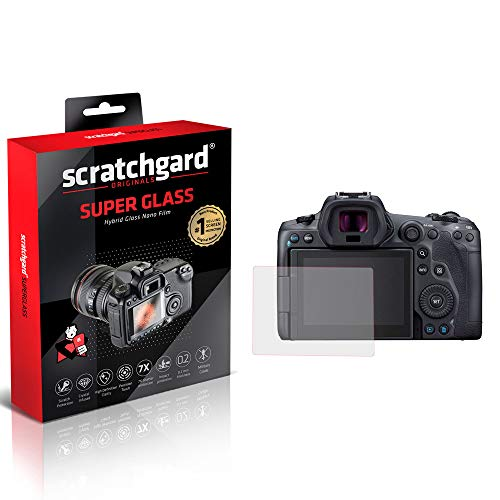 Scratchgard Unbreakable Hybrid Nano Glass (Stronger Than Tempered Glass) Flexible Film Camera Screen Protector for Canon EOS R6