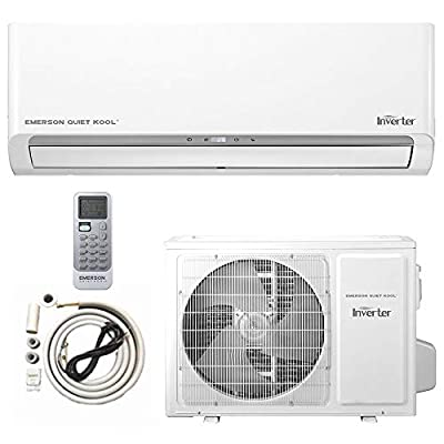 Emerson mini split Air Conditioner Ductless System 24000 BTU 17 SEER 230 V Inverter with 2 Ton Heat Pump, Wall Mounted Full Set 10FT Installation Kit