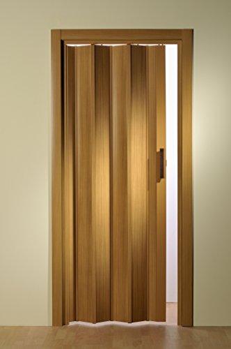 Kunststoff - Falttür Buche ohne Fenster 88,5x202 cm doppelwandig