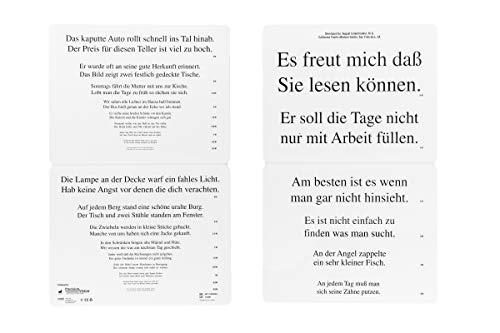 Deutsch Colenbrander Low Vision Faltlesetafel Kontinuierlicher Text