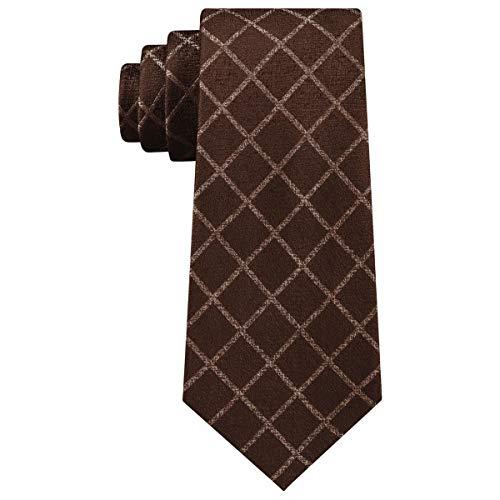 Michael Kors Mens City Silk Grid Neck Tie