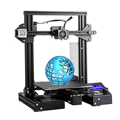 YUN CREALITY Ender-3 PRO Stampante 3D, Dimensioni di Stampa 220×220×250 mm, sensore Intelligente/Nessuna Paura di interruzione di Corrente/con Funzione di ripresa della Stampa