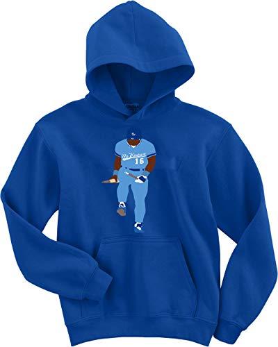 Blue Kansas City Bo Knows Broken Bat Shirt Hooded Sweatshirt Youth XL
