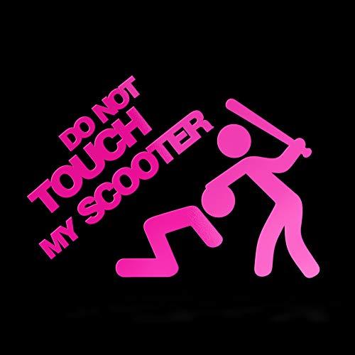 Erreinge Sticker Do not Touch My Scooter Tuning Jdm Dub Rosa Fluo Schriftzug Pvc Pour Moto Silencieux casque pare-brise - 35 cm