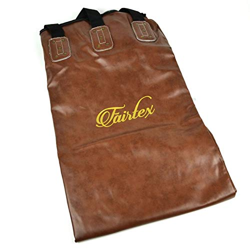 Fairtex Boxsack – Vintage Brown 1,8 m Muay Thai Banana Bag (ungefüllt)