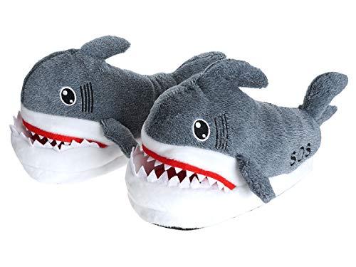CoolChange Zapatillas de casa de tiburón, Gris