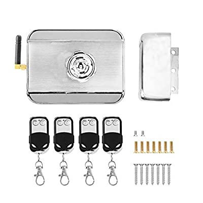 Electromagnetic Lock & Remote Control Kit, Stealth Access Control Outswinging Door Electromagnetic Lock Electronic Wireless Safety Anti-Theft Lock