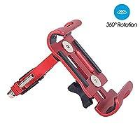 LANSHUN アルミ自転車携帯電話ホルダーマウント3.5から6.5インチのスマートフォンノンスリップ自転車電話マウントのためにサムスンのために小米科技のためのiPhoneマウントスタンド 多用途に便利 (Color : Style 2 Red)