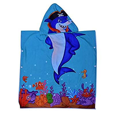 ELITE TREND Hooded Bath Beach Towel Set– Super Soft for Baby,Boys,Girls,Toddlers. Comes with a Story Book, Great for Pool Swimming Coverup, Ponchos, Robes or Capes, 1-7 Years Kid