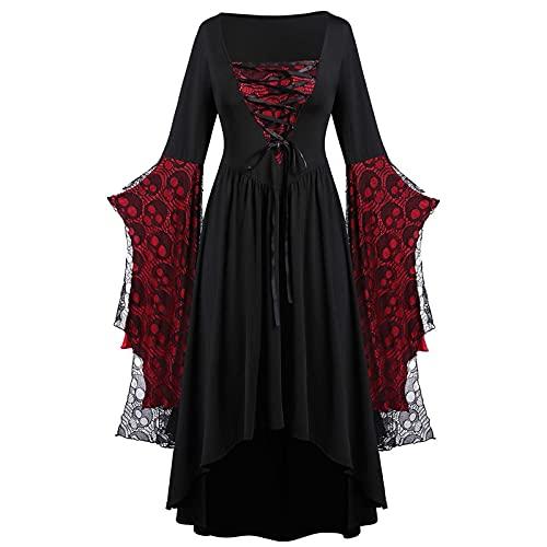 JIANGZHo Renaissance Dress Women Retro Medieval Dresses Halloween Essential Plus Size...