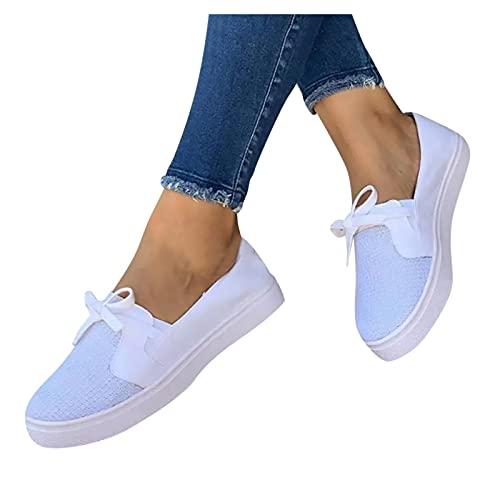 Briskorry Damessneakers, sportieve schoenen, veters, plat, slipper, laag model, canvas, platte schoenen, casual, effen gymschoenen, schoenen, schoenen, zomer, herfst, turnschoenen, ademende wandelschoenen