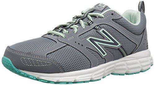 New Balance Women's 430 V1 Running Shoe, Gunmetal/Seafoam, 8 M US