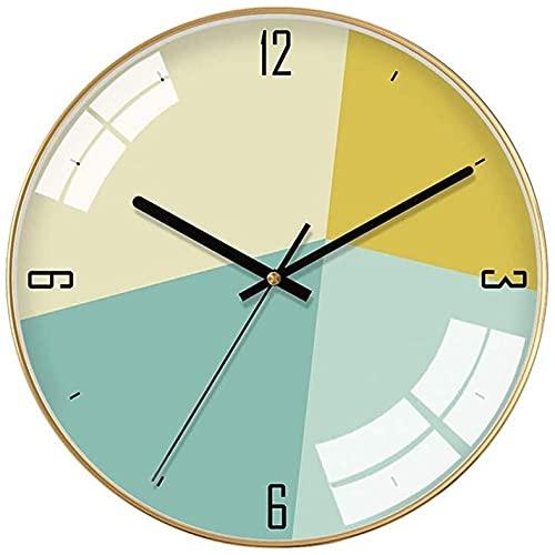chazuohuaile Co.,ltd Reloj De Pared Reloj De Pared Decorativo Minimalista, Personalidad Creativa, Relojes Electrónicos,Materiales Metálicos, Marco Dorado Minimalista Moderno