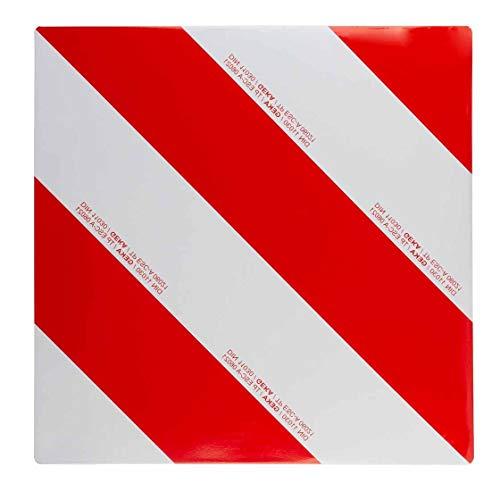 Warntafel | einseitig rechtsabweisend | für Trecker, Traktor, Auto, Wohnwagen, Wohnmobil | Warnschild | reflektierend | rot/weiß